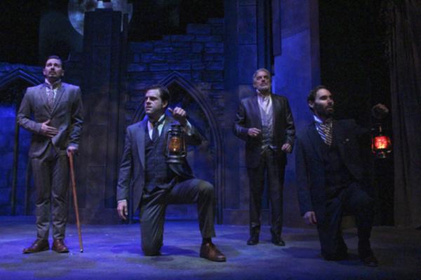 Christopher John Young as Jonathan Harker, Peter Kendall as Arthur Holmwood, Carl Wallnau as Dr. Van Helsing and Nicholas Wilder as Dr. John Seward