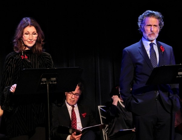 Joanna Gleason, (Derek Smith in rear), and Chris Sarandon