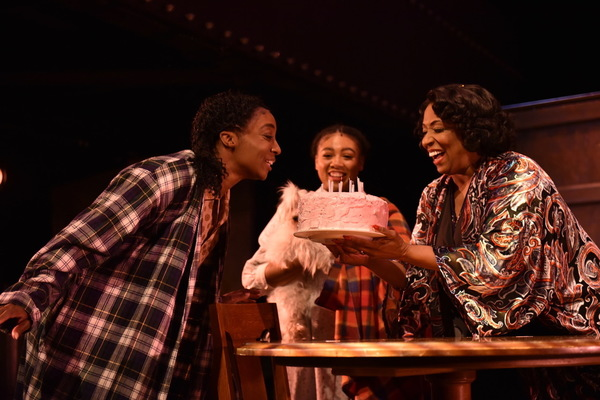 """(L ro R) Daryn Whitney Harrell  as """"Louise,� Aalon Smith as """"June� and E. Faye Butler as """"Rose�"""