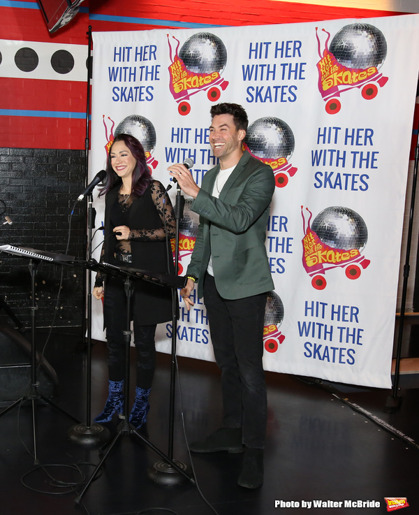 Photo Coverage: Diana DeGarmo and Ace Young Preview HIT HER WITH THE SKATES