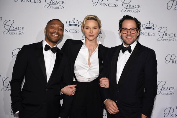 Honoree Kyle Abraham, HSH Princess Charlene of Monaco and honoree Sam Gold