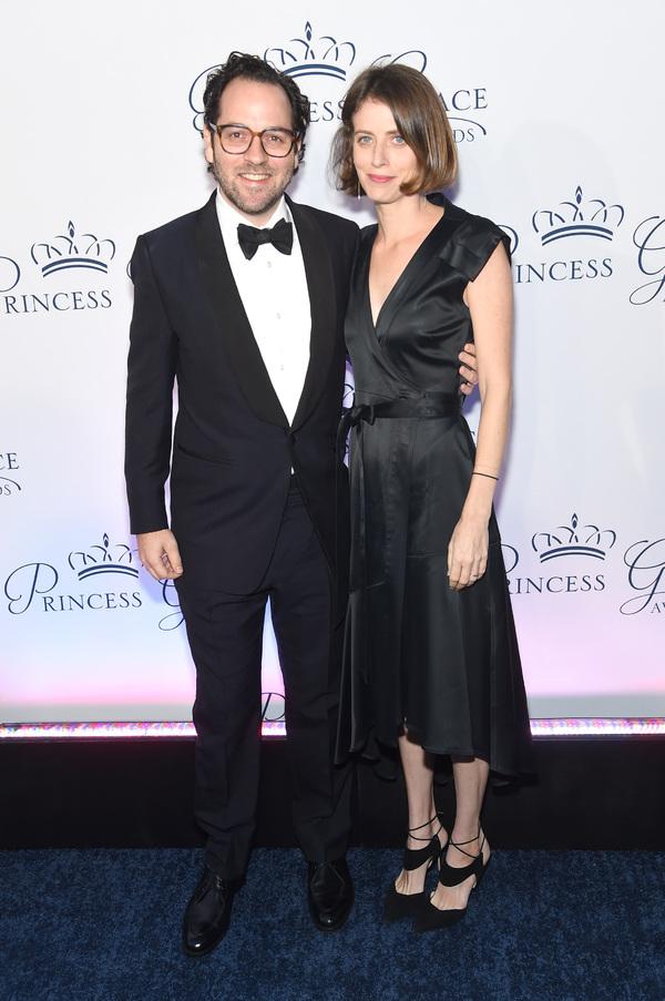 Honoree Sam Gold (2018 Princess Grace Statue Award Recipients) and Amy Herzog