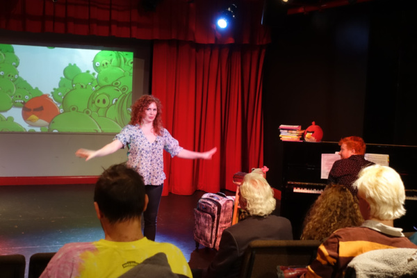 Dana Aber's Baggage at the Door is a quirky look at healing from trauma.  photo: Justin Torres *Angry Birds is a trademark of Rovio Entertainment