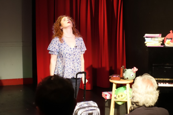 Dana Aber sings WEIGHTED BLANKET (Words by Dana Aber, Music & lyrics by Teresa Lotz)  From Dana Aber's Baggage at the Door  photo: Justin Torres *Angry Birds is a trademark of Rovio Entertainment