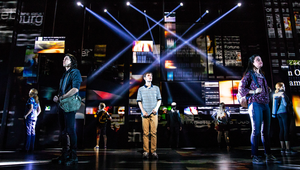 """Ben Levi Ross and the Company of the First North American Tour of """"Dear Evan Hansen.�"""