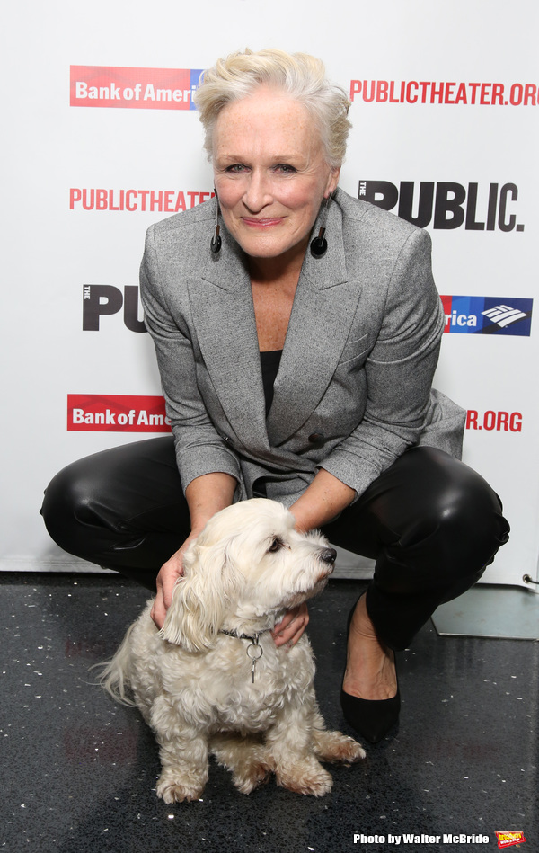 Glenn Close with her dog Pip