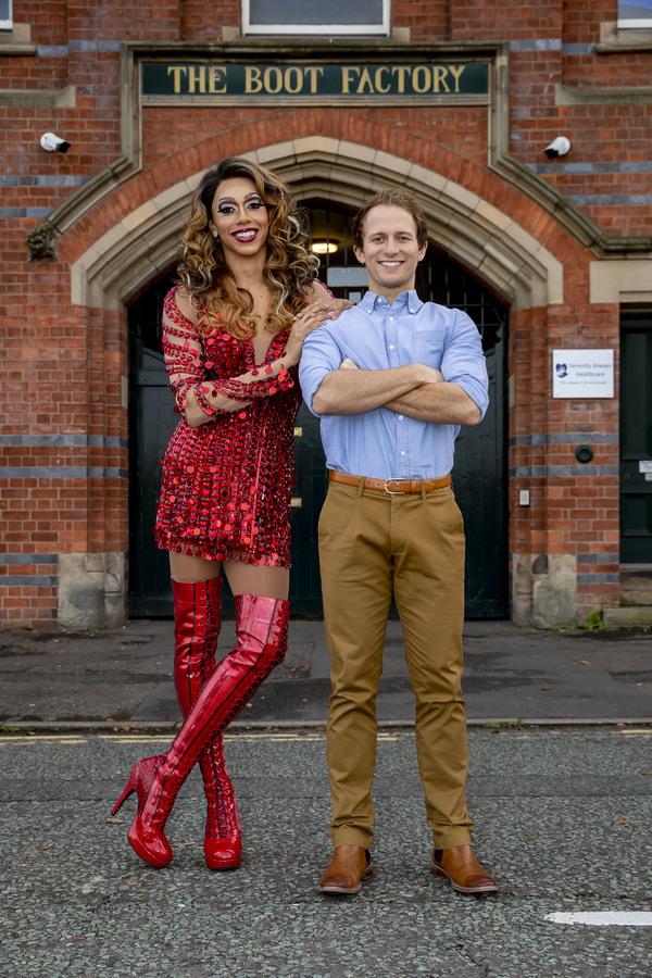 Photo Flash: KINKY BOOTS Cast Visits Wolverhampton's original Boot Factory