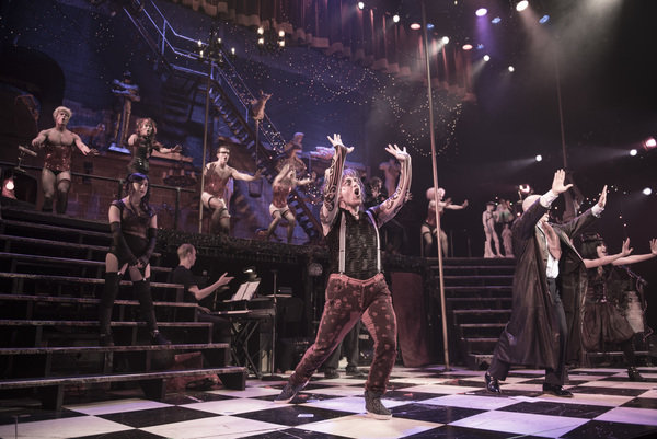 """The cast of """"The Rocky Horror Show� performs """"The Time Warp� at Bucks County Playhouse"""