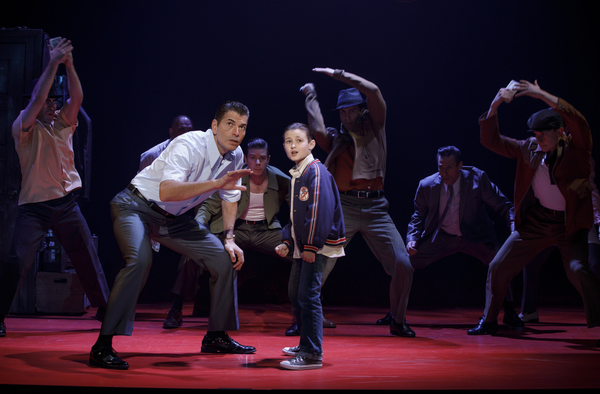 Joe Barbara (Sonny) and Frankie Leoni (Young C) and Company of A BRONX TALE