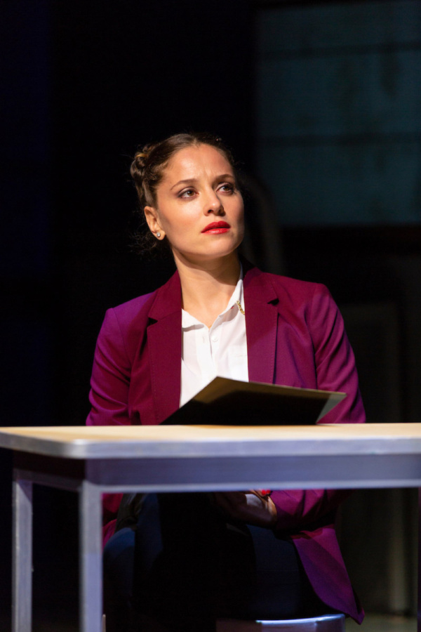 Margarita Levieva in Walter Anderson's world premiere courtroom drama, The Trial of Donna Caine, at George Street Playhouse, October 16 - November 11. Photo by T. Charles Erickson