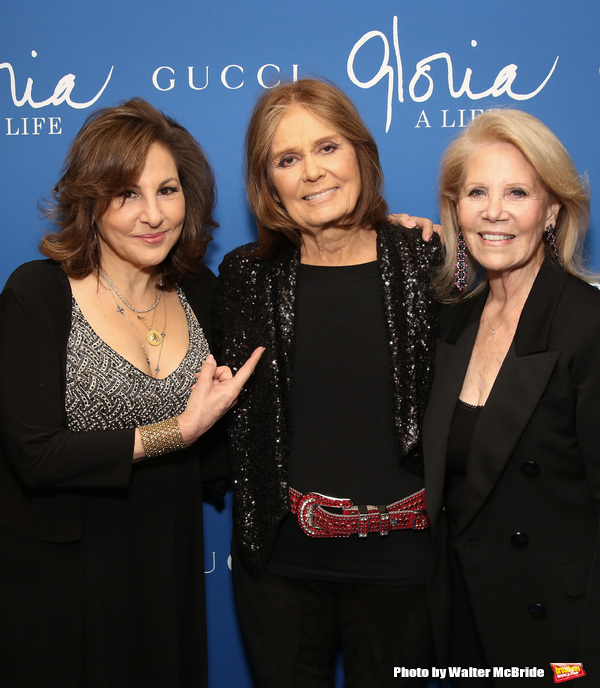 Kathy Najimy, Gloria Steinem and Daryl Roth