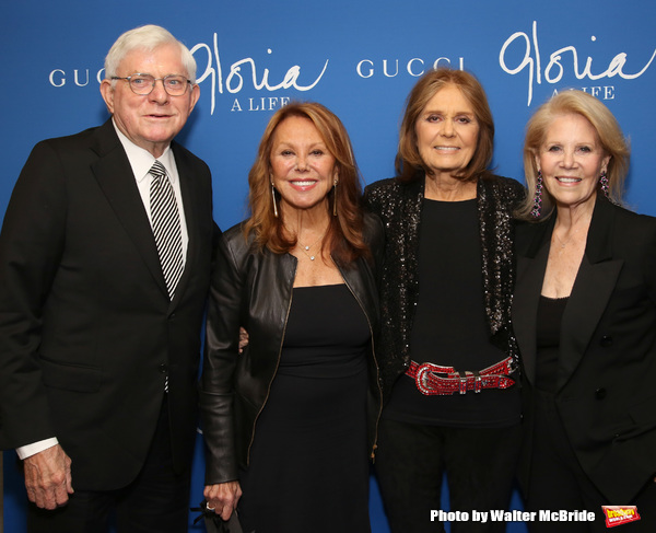 Phil Donahue, Marlo Thomas, Gloria Steinem and Daryl Roth