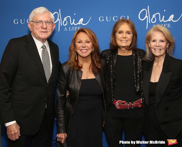 Phil Donahue, Marlo Thomas, Gloria Steinem and Daryl Roth