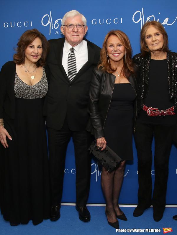 Kathy Najimy, Phil Donahue, Marlo Thomas and Gloria Steinem