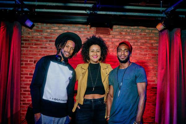 DJ Duggz, Lileana Blain-Cruz and Daniel J. Watts Photo