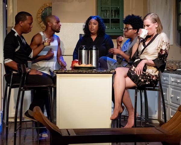 JC Payne as Flip, Jared Michael Swain as Spoon, Adrieene Knight as Taylor, Shelby Sul Photo