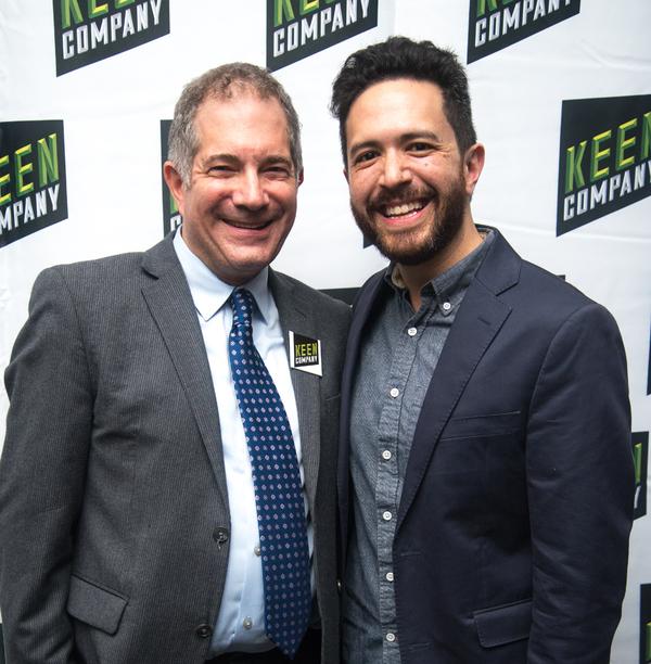 Director (and Keen Artistic Director) Jonathan Silverstein, Playwright Adam Gwon