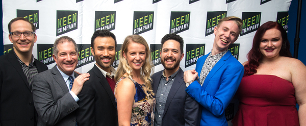 Musical Director John Bell, Director (and Keen Artistic Director) Jonathan Silverstein, Marc delaCruz,  Whitney Bashor,  Playwright Adam Gwon, Kyle Sherman, and Sarah Lynn Marion.