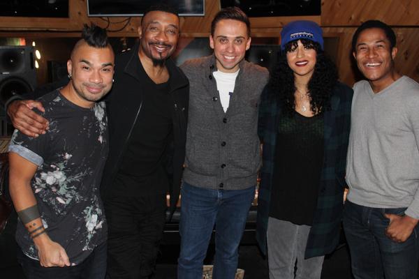 Andros Rodriguez (Engineer), David Jennings, Taylor Peckham, Ximone Rose and Daniel Yearwood (Photo Courtesy of Lynn Pinto)