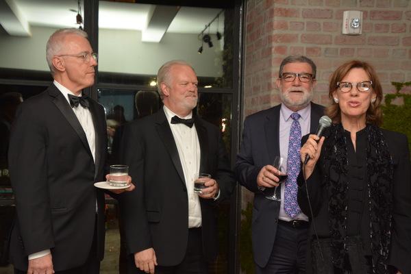 David Hess (Principal Cellist), Neil Balm (Principal Trumpet), Jeffrey P. Englander (Board of Directors) and Mary Carr Patton