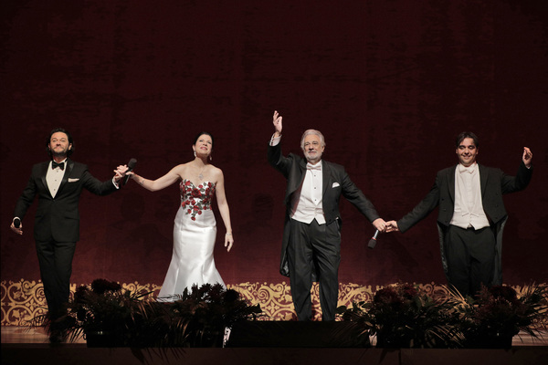 Placido Domingo, Ana Maria Martinez, Arturo Chacon-Cruz, and Jordi Bernacer Photo