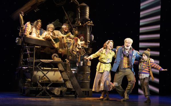 Amanda Rose as Mrs. Bucket, James Young as Grandpa Joe, Rueby Wood as Charlie  Photo