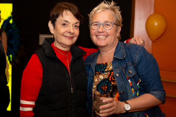 Cora Cahan, president of The New 42nd Streey with Claudia Lloyd, director of Tinga Ti Photo