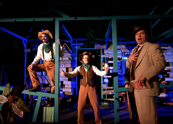 Eugenio Plummer (Tyler Bremer), Eugenio Plummer (Mariux Ibarra), and Don Juan (Amir L Photo