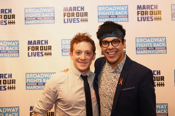 Ethan Slater and George Salazar