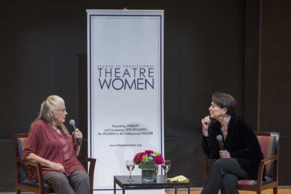 Drama Critic Linda Winer interviewing actress Lois Smith about her career in stage and film.   Photo credit: Ashley Garrett Photography