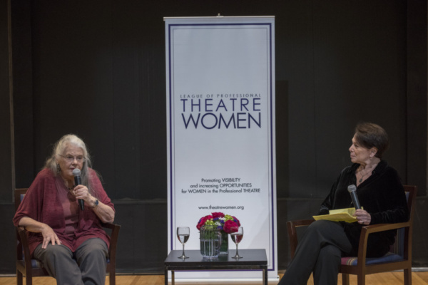 Linda Winer and Lois Smith go over Lois' illustrious film career, including fan favorites East of Eden, Five Easy Pieces, and Lady Bird.  Photo credit: Ashley Garrett Photography