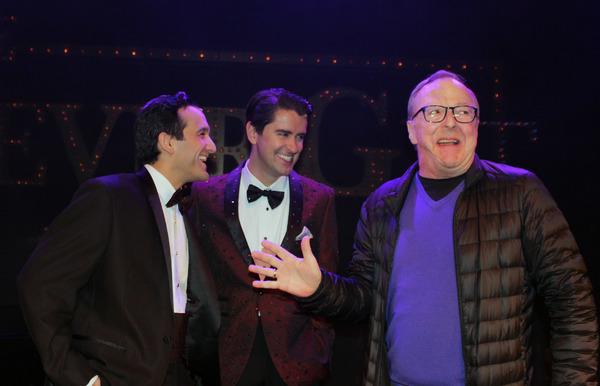 Photo Flash: Edward Hibbert Visits MIDNIGHT AT THE NEVER GET