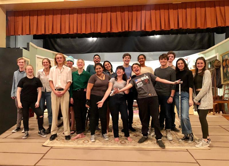 Members of the cast and crew of NMSA's You Can't Take It With You