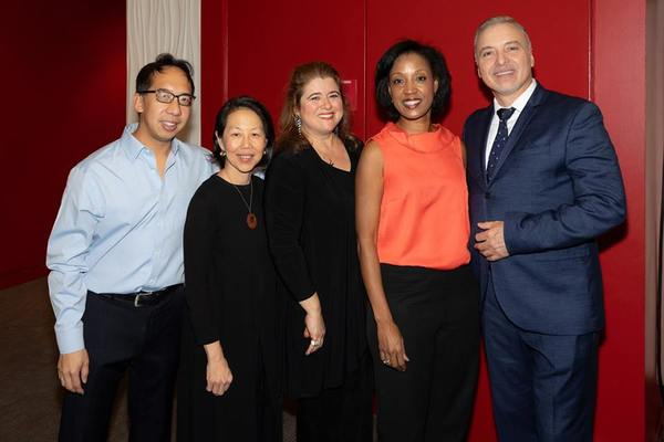 Season Ten Concert Series distinguished guest artists, pianist Joel Fan, pianist Donna Weng Friedman, founder and host, soprano Allison Charney, violinist Kelly Hall-Tompkins and baritone Gustavo Ahualli