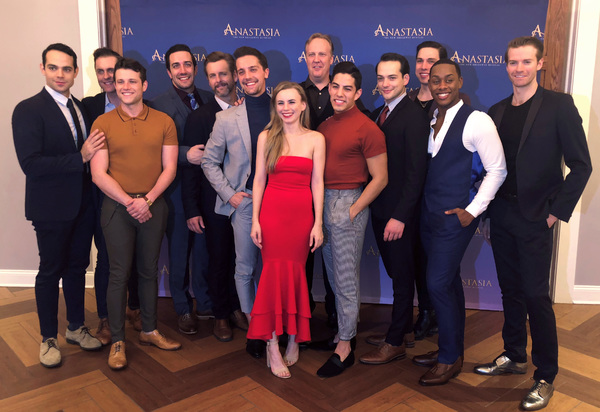 ANASTASIA Tour Launch Party featuring Jason Michael Evans (Gleb), Michael McCorry Rose (Ensemble), Matt Rosell (Ensemble), Jeremiah Ginn (Swing), Edward Staudenmayer (Vlad), Kenneth Michael Murray (Swing), Lila Coogan (Anya), Fred Inkley (Ensemble), Peter
