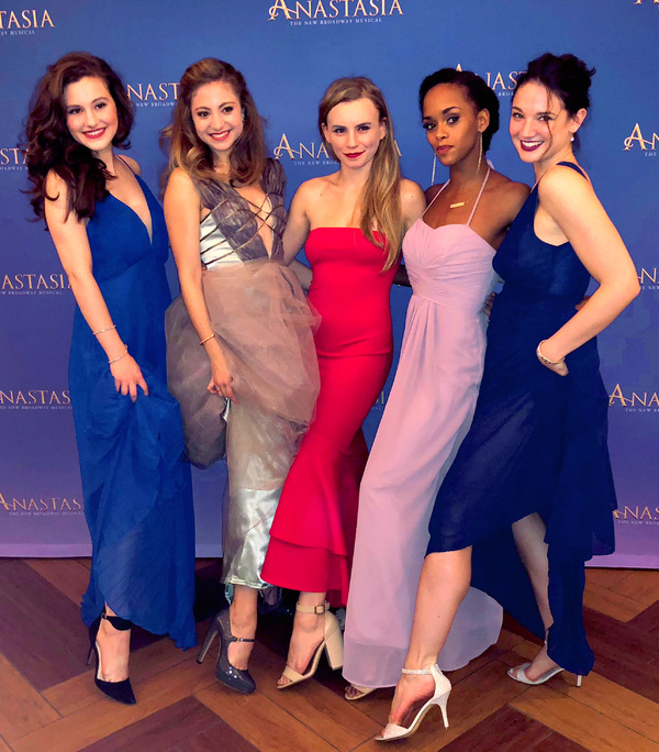 ANASTASIA Tour Launch Party featuring Taylor Quick (Ensemble), Brianna Abruzzo (Ensem Photo