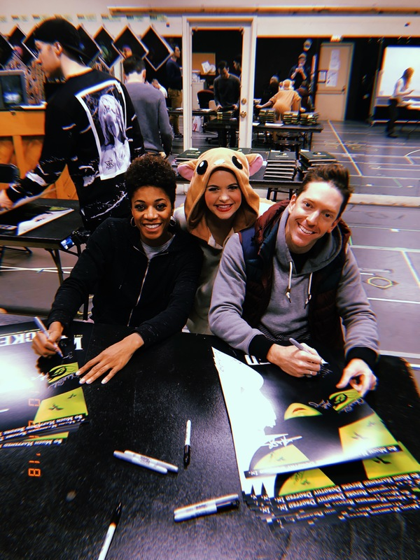 """""""Now that we're in here, you'll know we've been here…�  Everyone will know Teneise Ellis and Jonathan Ritter have been here! These two are such treasures! Shoutout to Matt Meigs and Jeremy Thompson in the back too. I visited the poster-signing"""