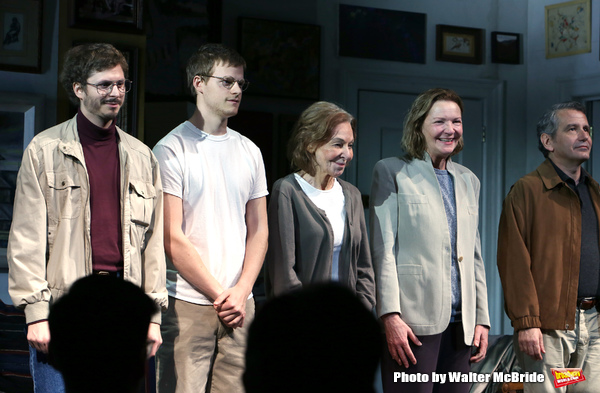 Michael Cera, Lucas Hedges, Elaine May, Joan Allen and David Cromer  Photo
