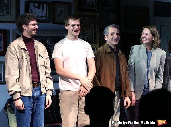 Michael Cera, Lucas Hedges, David Cromer and Joan Allen  Photo