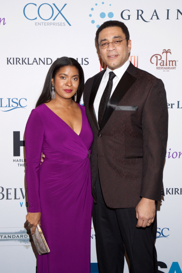 Actor Harry Lennix (The Blacklist) with wife Djena