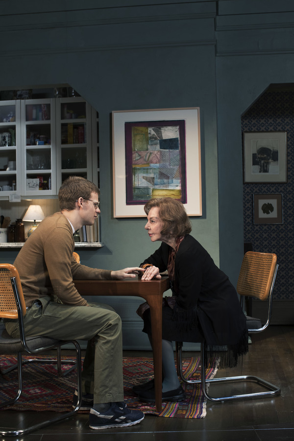 Lucas Hedges and Elaine May