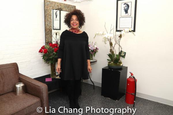Denise Burse in her dressing room.