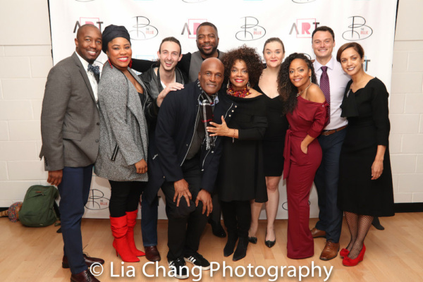 DOT's Associate Director Jamil Jude, Amber A. Harris, Benedetto Robinson, Director Kenny Leon, Gilbert Glenn Brown, Denise Burse, Rhyn McLemore Saver, Tinashe Kajese-Bolden and Lee Osorio and Billie Holiday Executive Director Indira Etwaroo. Photo by Lia Chang