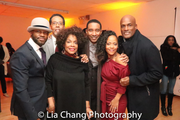 A BLUE reunion: Yusef Miller, Peter Jay Fernandez, Denise Burse, Charles Randolph-Wright, Tinashe Kajese-Bolden and director Kenny Leon