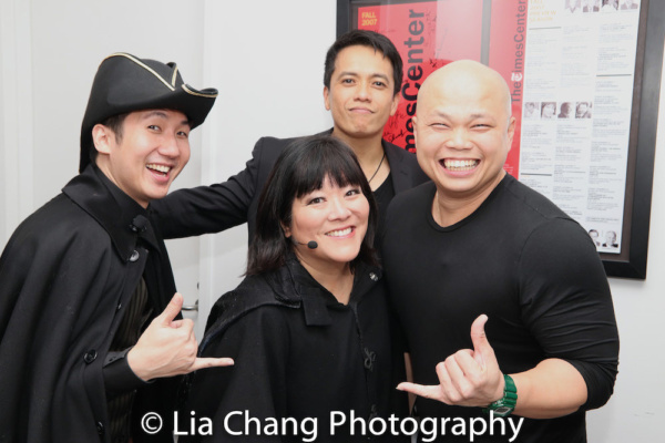 Colin Miyamoto (Steward), Ann Harada (Witch) and Chorus Members Jeremy Antonio Rafal, Viet Vo
