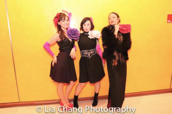 Backstage: Kimbirdlee Fadner (Florinda), Rebecca Lee Lerman (Lucinda), Rona Figueroa (Stepmother)
