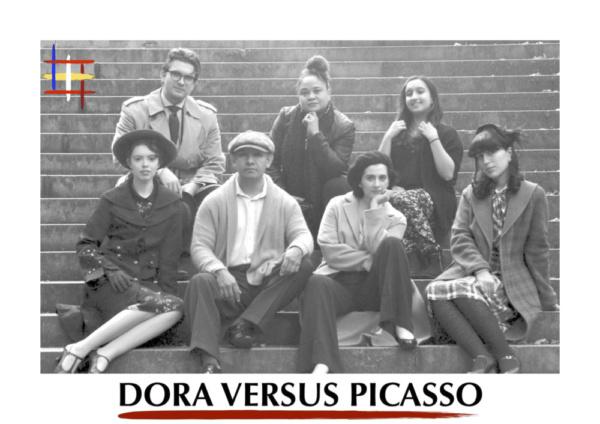 Cast and Creative Team of Dora Versus Picasso: Back Row: Stephan Byc, Yudelka Heyer, Hannah Ciesil Front Row: Ayla Rosen, Richard Barreto, Claire-Monique Martin, Barbara Bernadi.