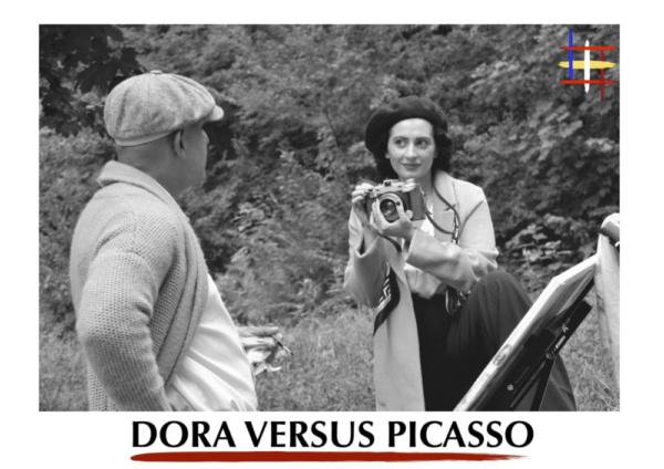 Claire-Monique Martin as Dora Maar and Richard Barreto as Pablo Picasso in 'Dora Versus Picasso'