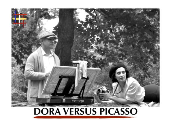 Richard Barreto as Pablo Picasso and Claire-Monique Martin as Dora Maar in 'Dora Versus Picasso'