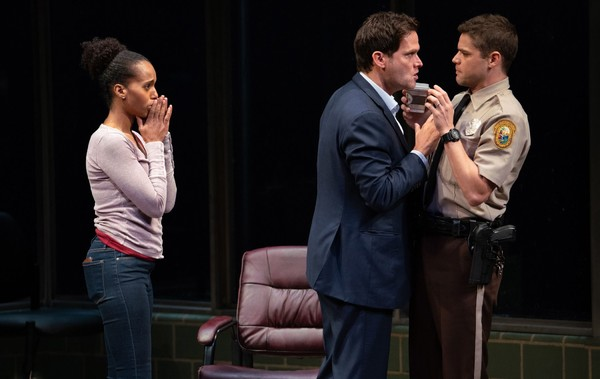 American Son Production Photo - Steven Pasquale, Kerry Washington, Jeremy Jordan
